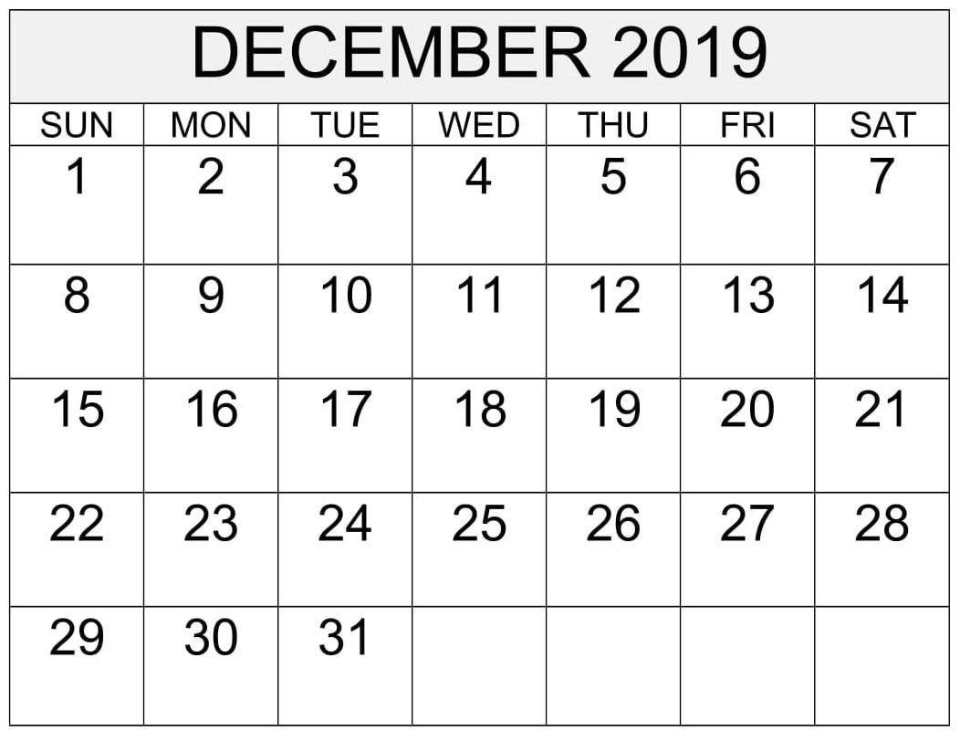 December Calendar 2019