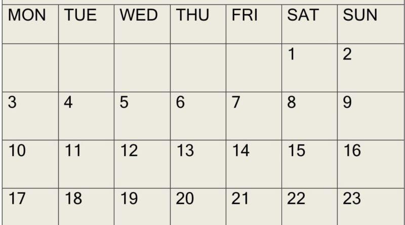 February 2020 Calendar
