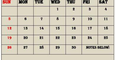 Free Printable April 2020 Calendar
